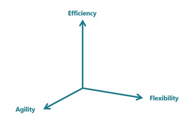 There are three fundamental targets for any product platform, increasing flexibility, agility, and efficiency.